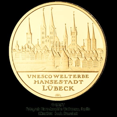 1/2 Unze Gold 100 Euro Deutschland 2007 UNESCO Welterbe - Hansestadt Lübeck