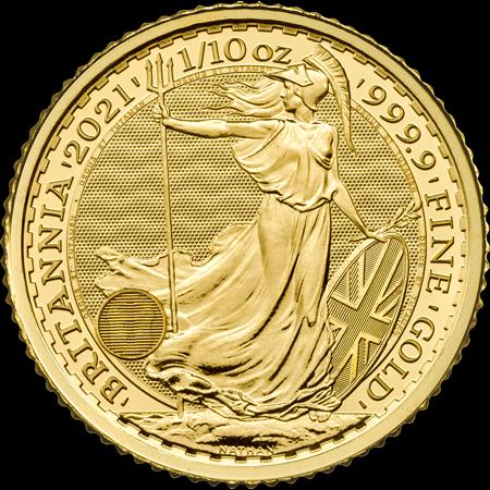 1/10 Unze Gold Britannia 2021