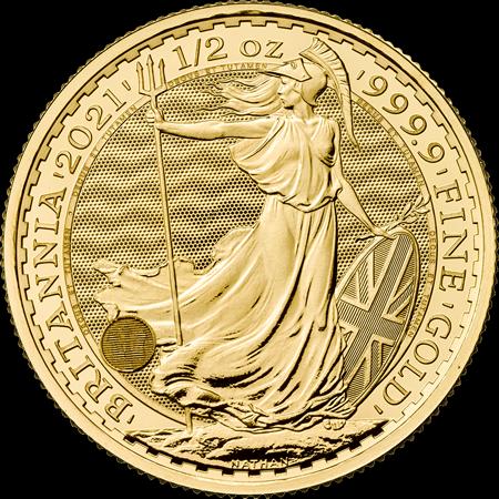 1/2 Unze Gold Britannia 2021
