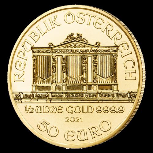 1/2 Unze Gold Wiener Philharmoniker 2021