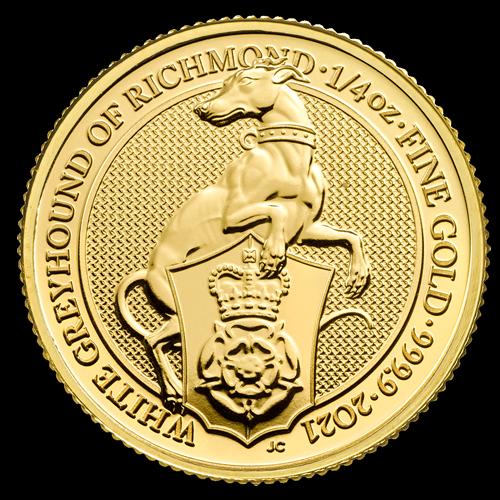 1/4 Unze Gold The Queen´s Beasts - White Greyhound of Richmond