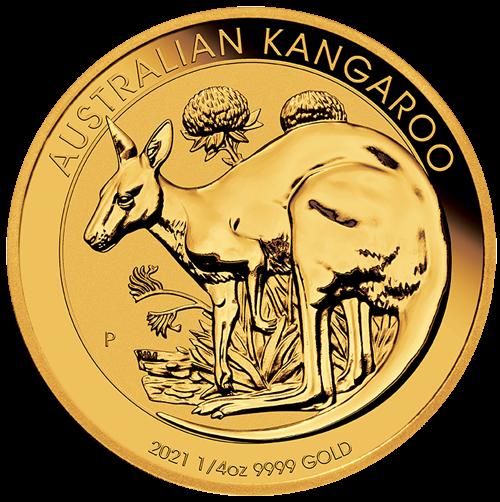 1/4 Unze Gold Australien Känguru 2021