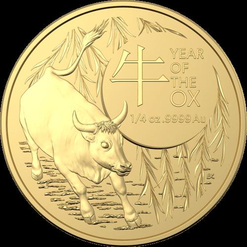 1/4 Unze Gold Australien (RAM) Lunar II Ochse 2021