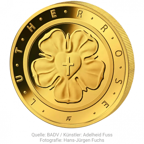 1/4 Unze Gold 50 Euro Lutherrose 2017