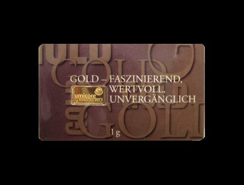 1 g Goldbarren Gold faszinierend | 1 Gramm Barren faszinierend aus Gold von Good Delivery Herstellern