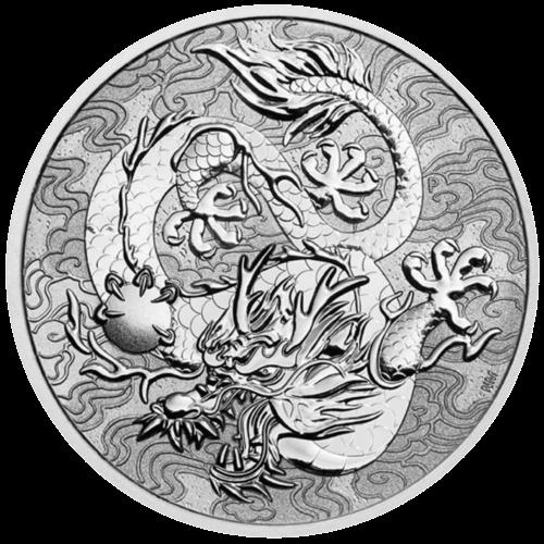 1 Unze Silber Chinesische Mythen & Legenden Drache 2021