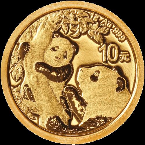 1 g Gold China Panda 2021