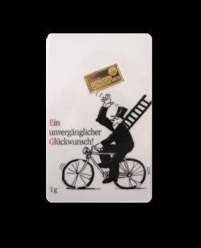 1 g Goldbarren Glückwunsch | 1 Gramm Barren Glückwunsch aus Gold von Good Delivery Herstellern
