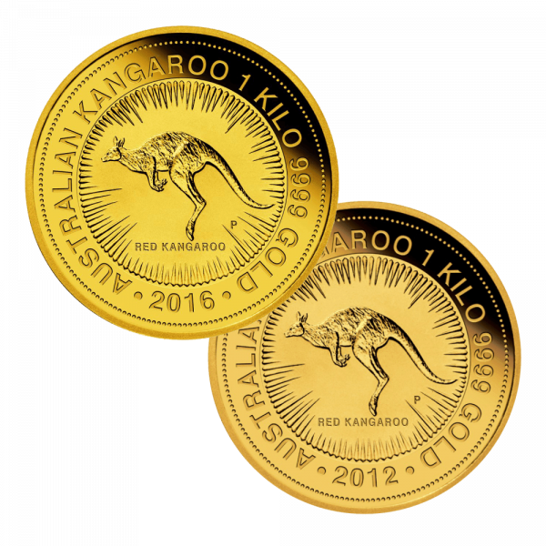 1 kg Gold Australien Känguru | Vorderseite Goldmünze 1 Kilogramm Australian Kangaroo der Perth Mint Australia