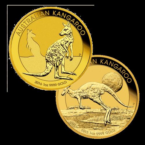 Kängurumünze 1 Unze Gold Australien | Rückseite der Kängurumünze 1 Unze Gold der Perth Mint Australia