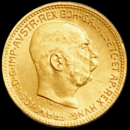 6,775 g Gold Österreich 20 Kronen | Rückseite der Goldmünze 6,775 g Österreich 20 Kronen der Münze Österreich
