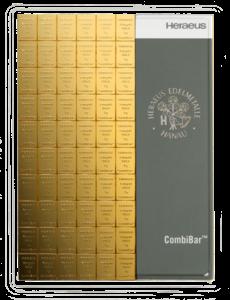 100 x 1 g CombiBar Goldtafel Heraeus