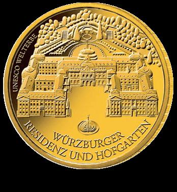1/2 Unze Gold 100 Euro Deutschland 2010 UNESCO Welterbe Würzburger Residenz