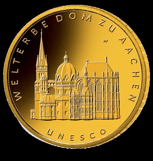 1/2 Unze Gold 100 Euro Deutschland 2012 UNESCO Welterbe - Aachener Dom