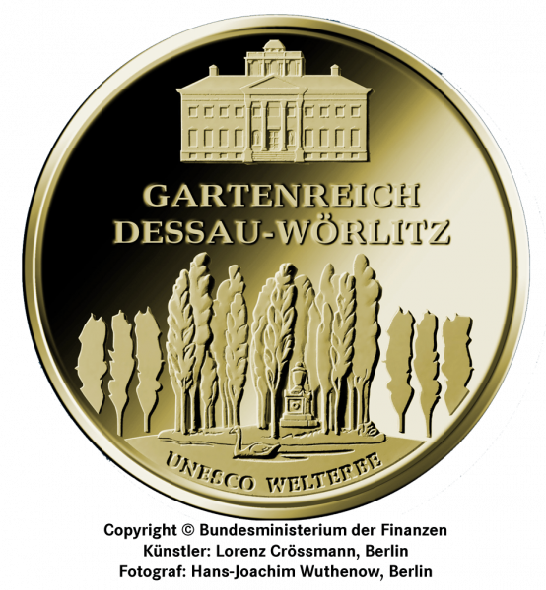 1/2 Unze Gold 100 Euro Deutschland 2013 UNESCO Welterbe - Gartenreich Dessau-Wörlitz