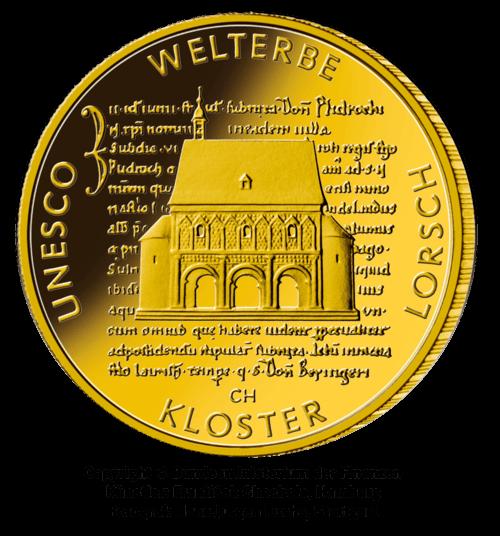 1/2 Unze Gold 100 Euro Deutschland 2014 UNESCO Welterbe - Kloster Lorsch