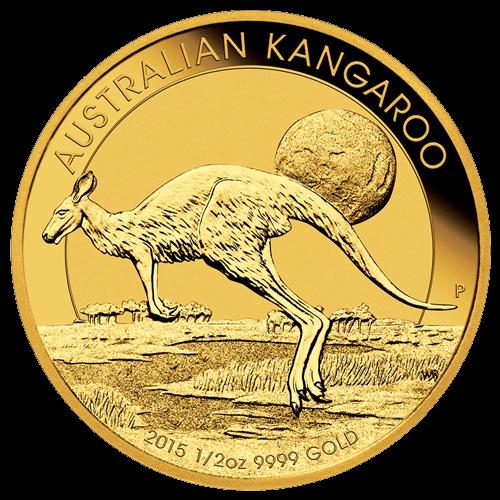 1/2 Unze Gold Australian Känguru 2015