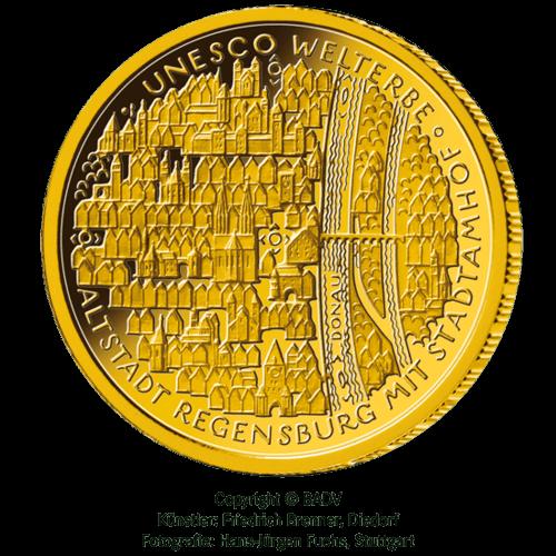 1/2 Unze Gold 100 Euro Deutschland 2016 UNESCO Welterbe - Regensburg