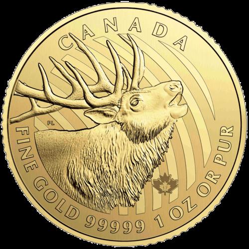 1 Unze Gold Kanada Hirsch 2017