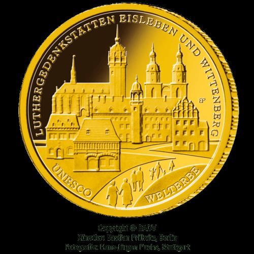 1/2 Unze Gold 100 Euro Deutschland 2017 UNESCO Welterbe - Luthergedenkstätten Eisleben & Wittenberg