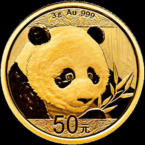 3 g Gold China Panda 2018