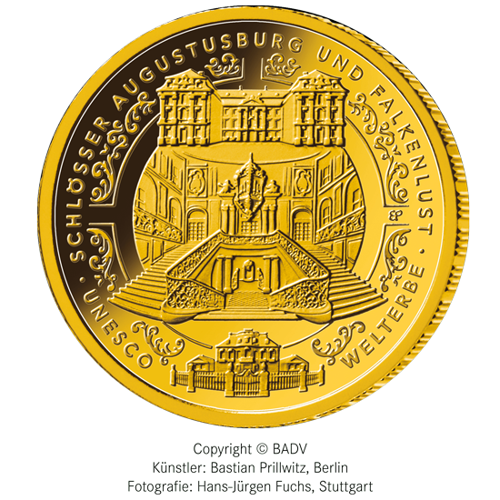 1/2 Unze Gold 100 Euro Deutschland 2018 UNESCO Welterbe - Augustusburg und Falkenlust