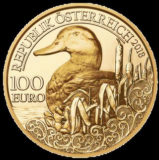 16 g Goldmünze 100 Euro Stockente 2018 Proof-Qualität