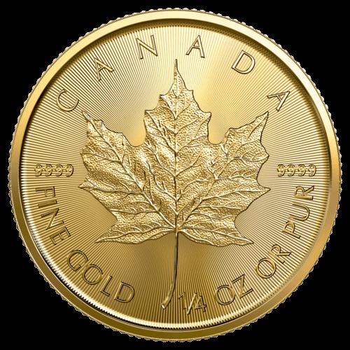 1/4 Unze Gold Maple Leaf 2020 (lagernd Frankfurt)