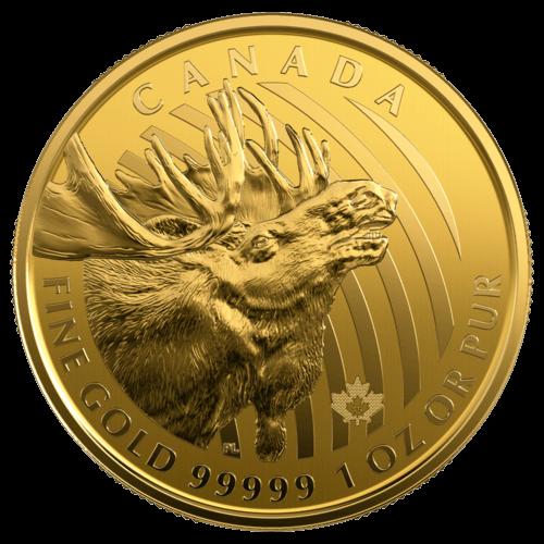 1 Unze Gold Kanada Elch 2019