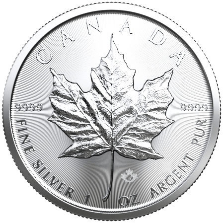 1 Unze Silber Maple Leaf 2020 (lagernd Frankfurt)