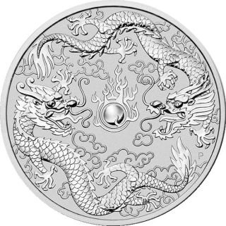 1 Unze Silber Australien Dragon & Dragon 2019