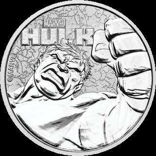 1 Unze Silber Marvel Hulk 2019
