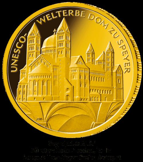 1/2 Unze Gold 100 Euro Deutschland 2019 UNESCO Welterbe - Dom zu Speyer