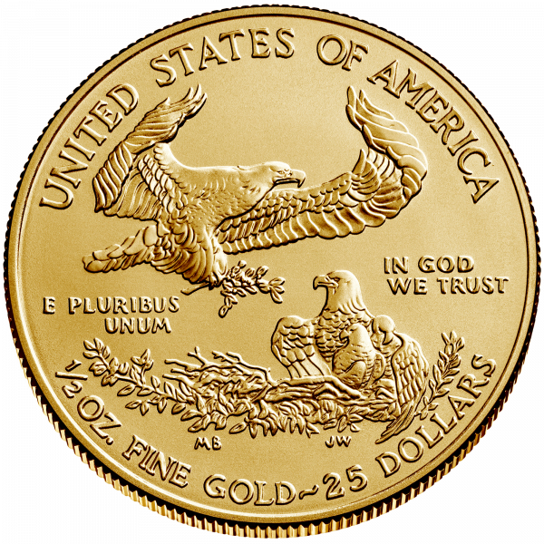 1/2 Unze Gold American Eagle 2020