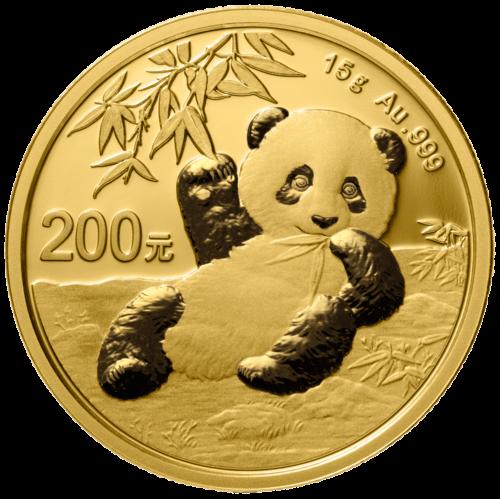 15 g Gold China Panda 2020