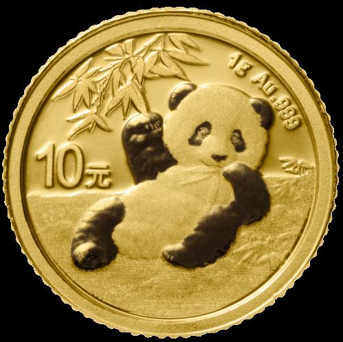 1 g Gold China Panda 2020