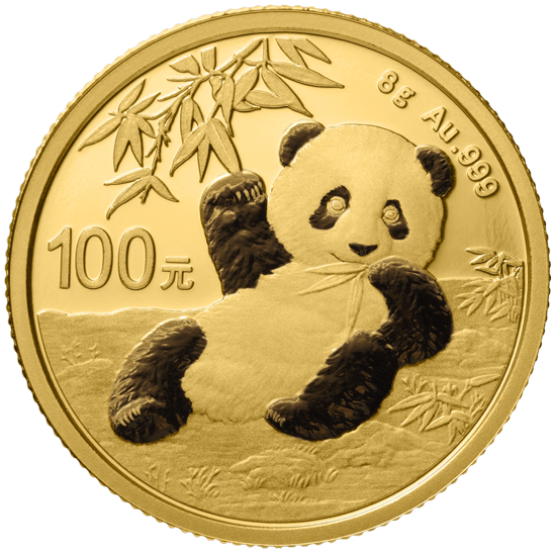 8 g Gold China Panda 2020