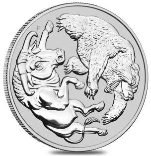 1 Unze Silber Bulle und Bär 2020