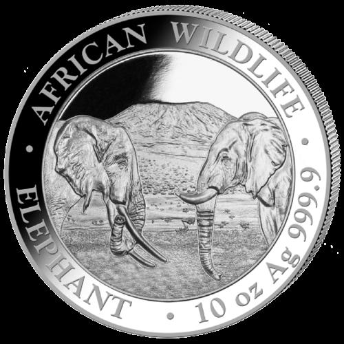 10 Unzen Silber Somalia Elefant 2020