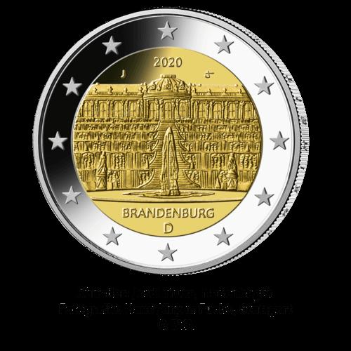 2 Euro Münze Deutschland Bundesländer-Serie Brandenburg 2020