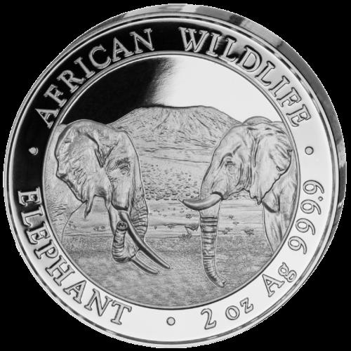 2 Unzen Silber Somalia Elefant 2020