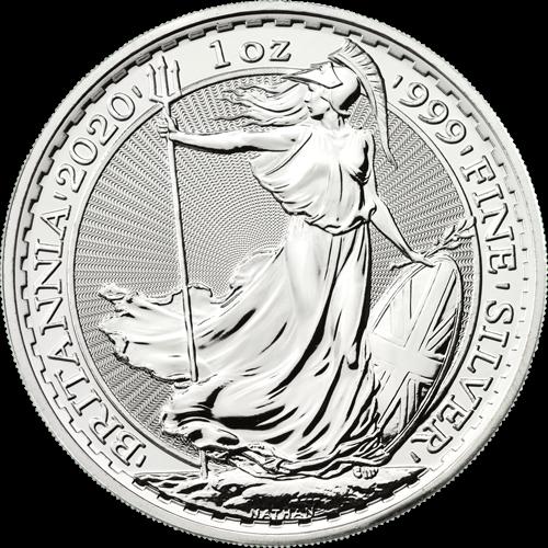1 Unze Silber Britannia diverse Jahrgänge