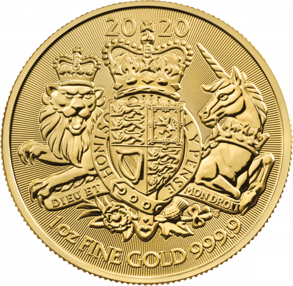 1 Unze Gold The Royal Arms 2020