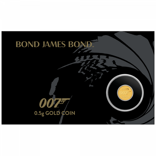 0,5 g Gold 007 James Bond 2020