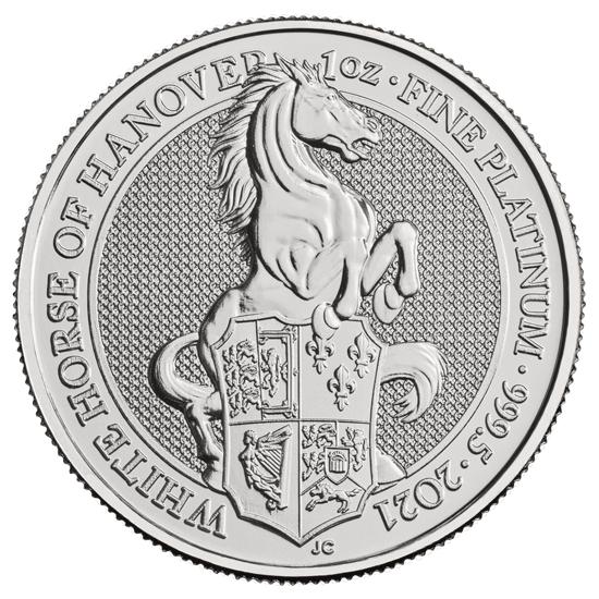 1 Unze Platin The Queen´s Beasts - White Horse of Hanover 2021