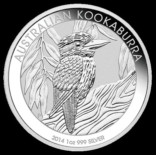Vorderseite der 1 Unze Silbermünze Kookaburra | Vorderseite der 1 Unze 2014 Silbermünze Kookaburra von The Perth Mint Australia