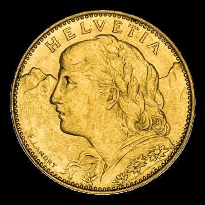 2,9 g Gold Vreneli 10 Franken diverse Jahrgänge