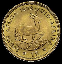 3,66 g Gold 1 Rand Südafrika diverse Jahrgänge