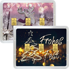 3 g Gold Geschenkkarte Frohes Fest
