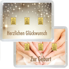 3 g Gold Geschenkkarte Herzlichen Glückwunsch zur Geburt